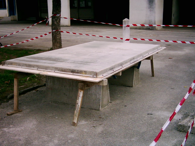 Table de ping pong - Table ping pong exterieur beton ...
